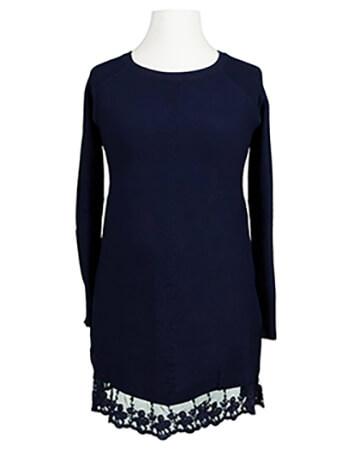 Tunika Pullover mit Spitze, blau
