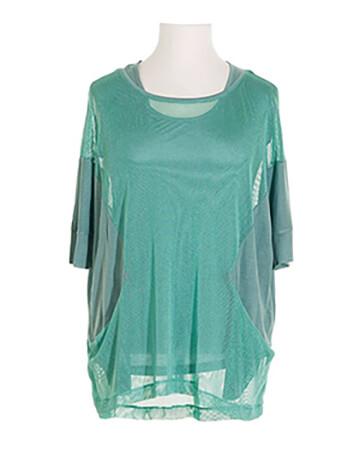 Tunika Shirt 2-tlg., aqua