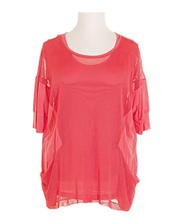 Tunika Shirt 2-tlg., koralle (Bild 1)