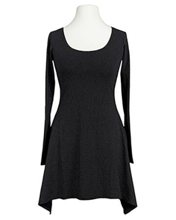 Tunika Shirt mit Punkten, schwarz