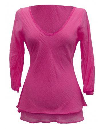 Tunika Bluse Baumwolle, pink