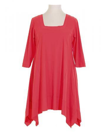 Damen Long Tunika Jersey, koralle