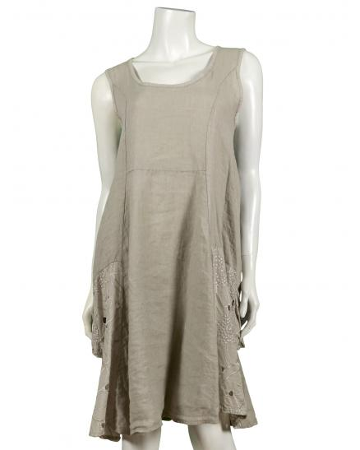 Tunika Kleid Leinen, beige (Bild 1)