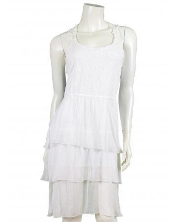Kleid mit Häkelspitze, weiss (Bild 1)