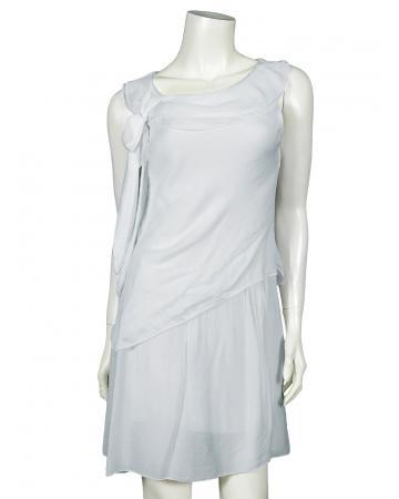 Damen Kleid mit Seide, grau