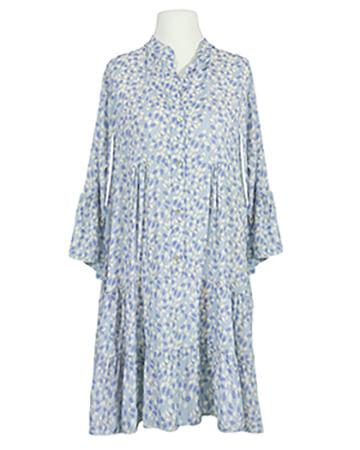Tunikakleid Print, hellblau