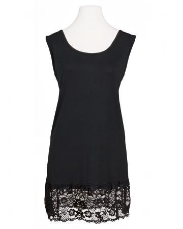 Unterkleid mit Spitze, schwarz