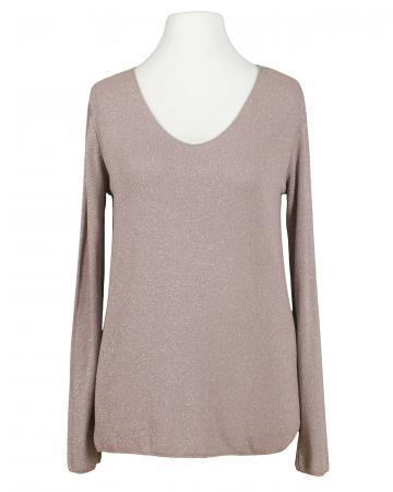 Viskose Shirt Lurex, rosa (Bild 1)