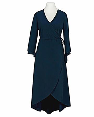 Wickelkleid Jersey, blau