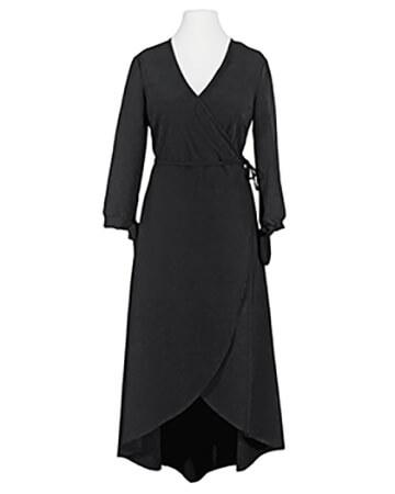 Wickelkleid Jersey, schwarz (Bild 1)