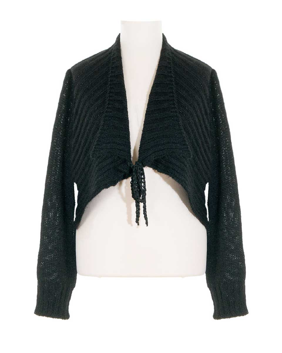 wholesale dealer 74a13 ce919 Bolero Strickjacke, schwarz