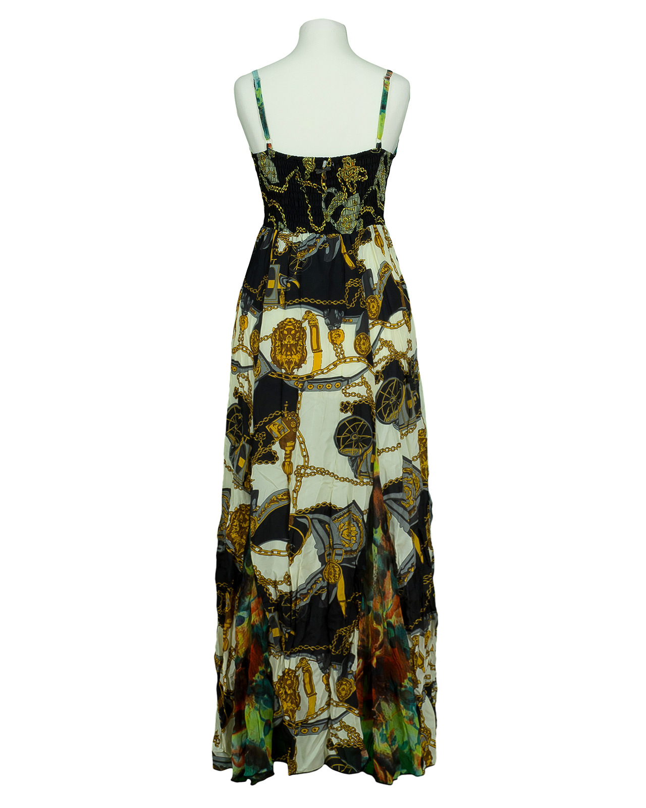 Chiffon Kleid lang, multicolor | 101 Idees