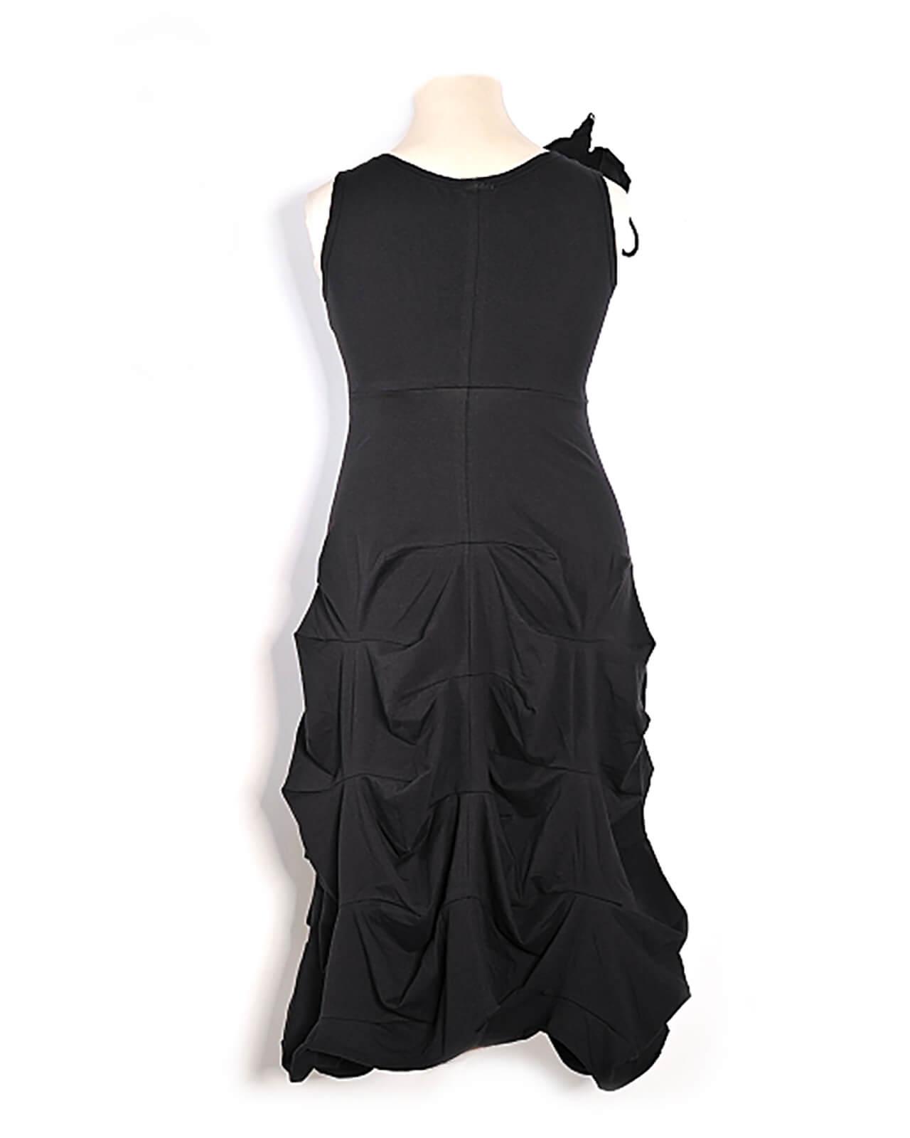 Empire Kleid Blüte, schwarz