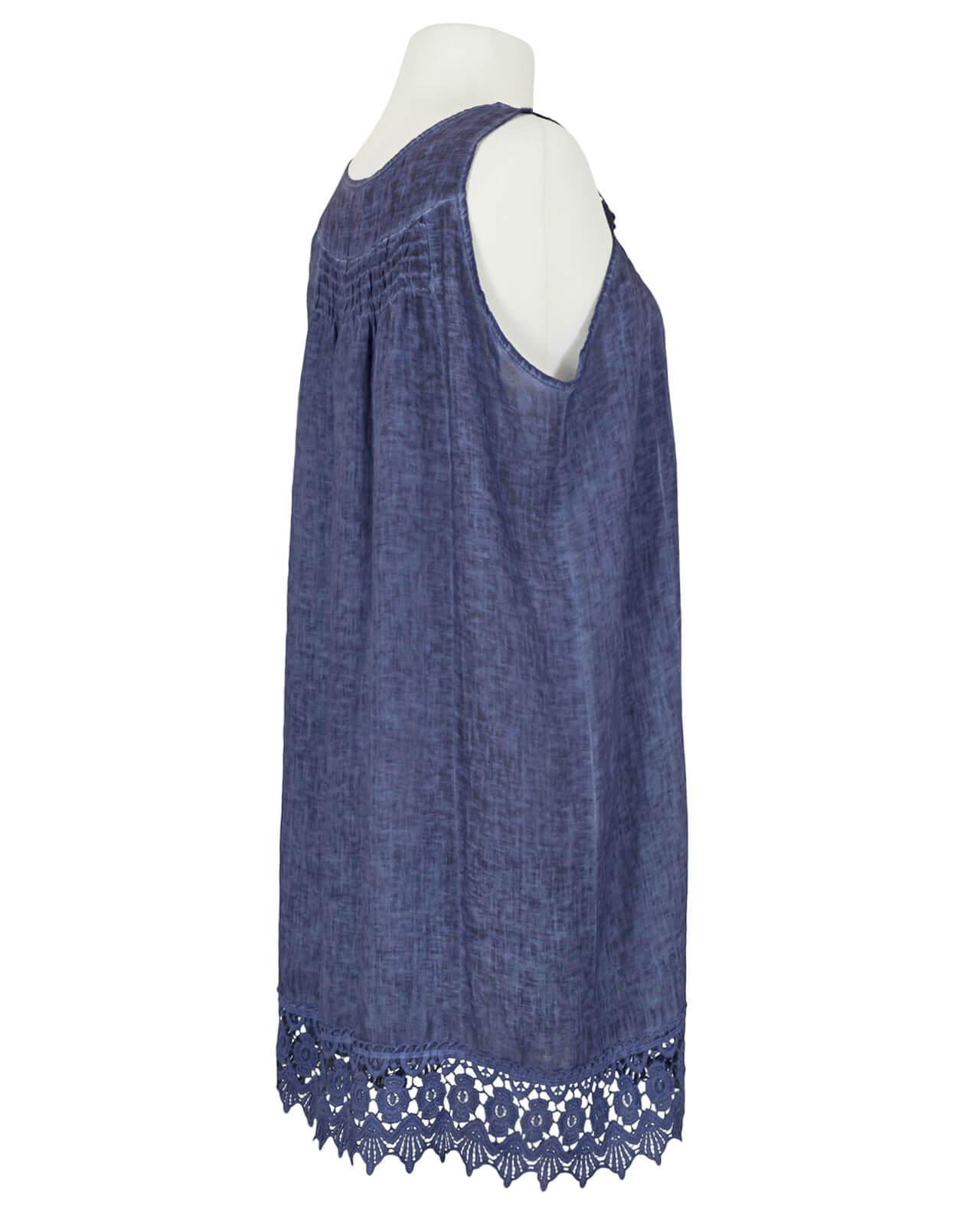 Hängerchen Kleid mit Spitze, blau von Diana | meinkleidchen