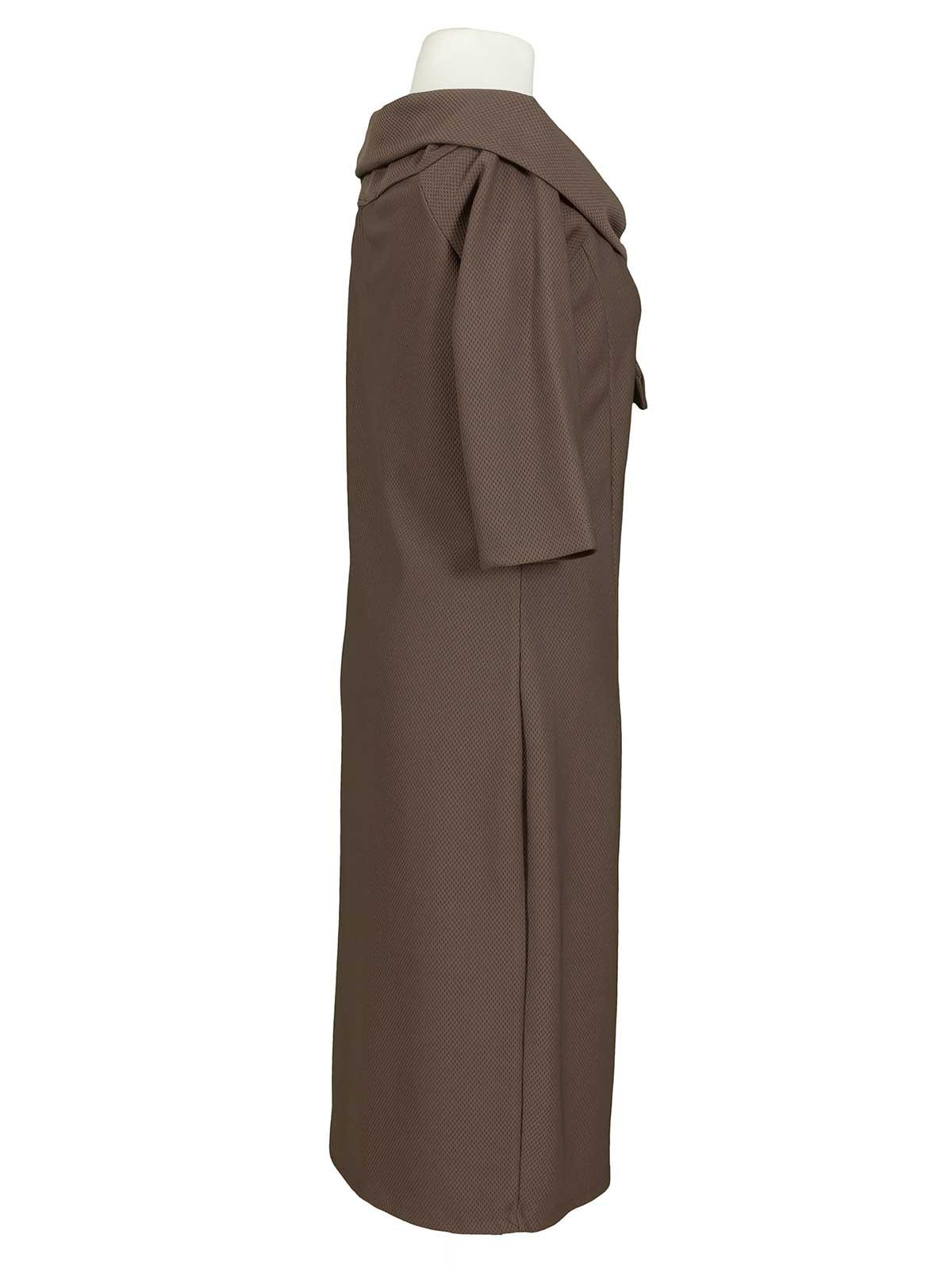 Jersey Kleid, braun von Pronto Moda | meinkleidchen
