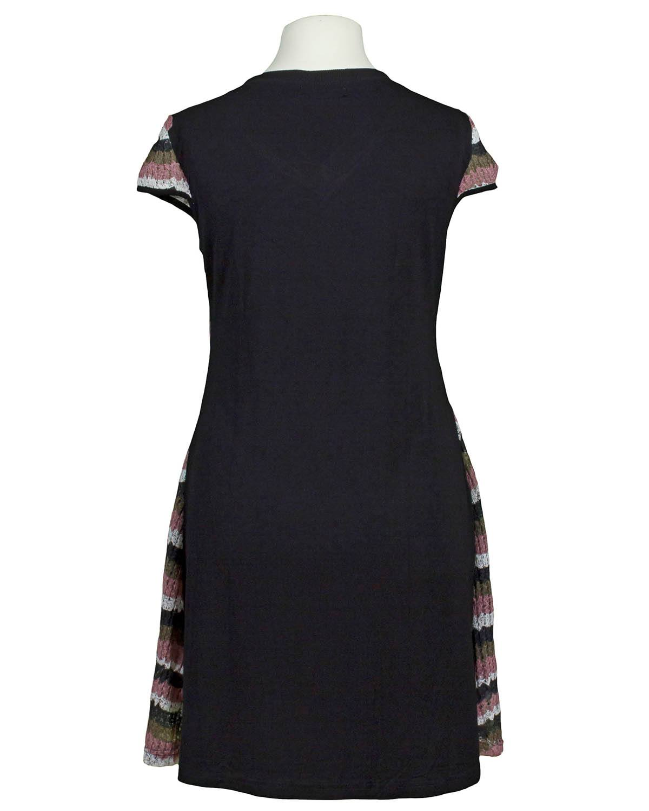 Kleid, schwarz multicolor