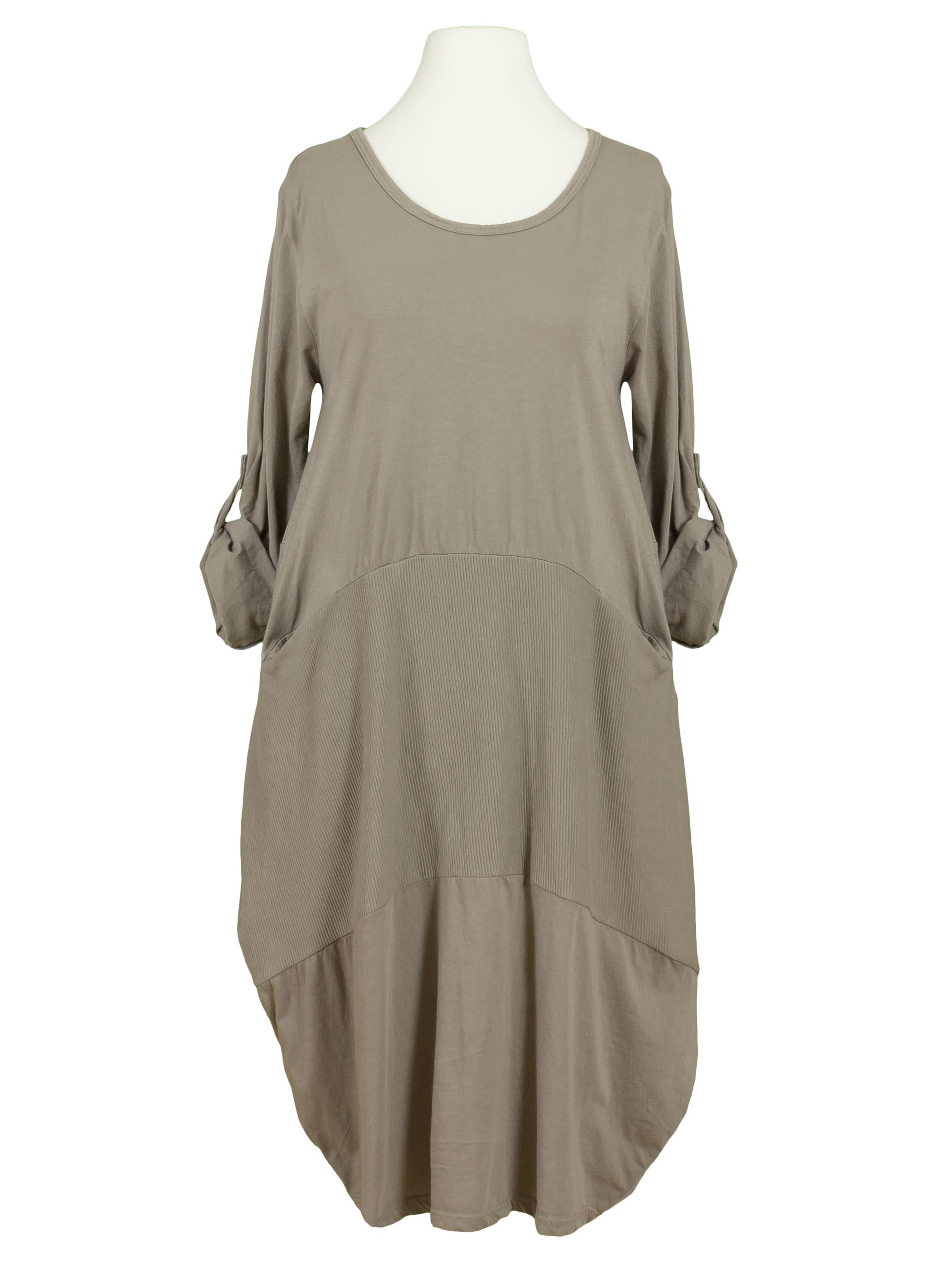Kleid Ballonschnitt, braun von Spaziodonna | meinkleidchen