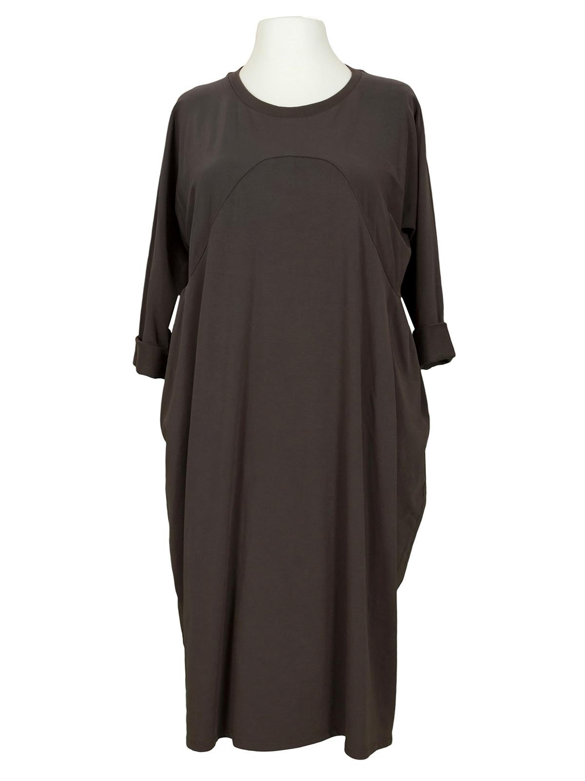 Kleid Baumwolljersey, braun von Wendy | meinkleidchen