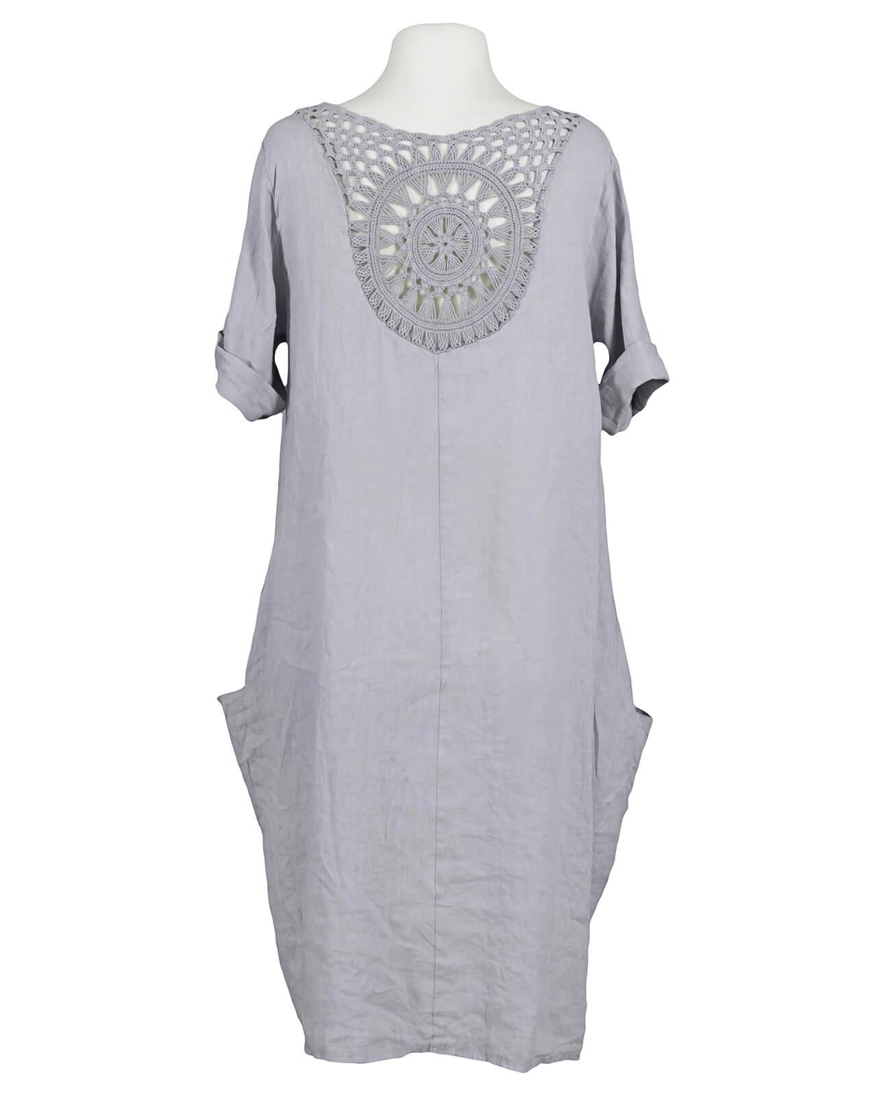 Kleid grau mit spitze