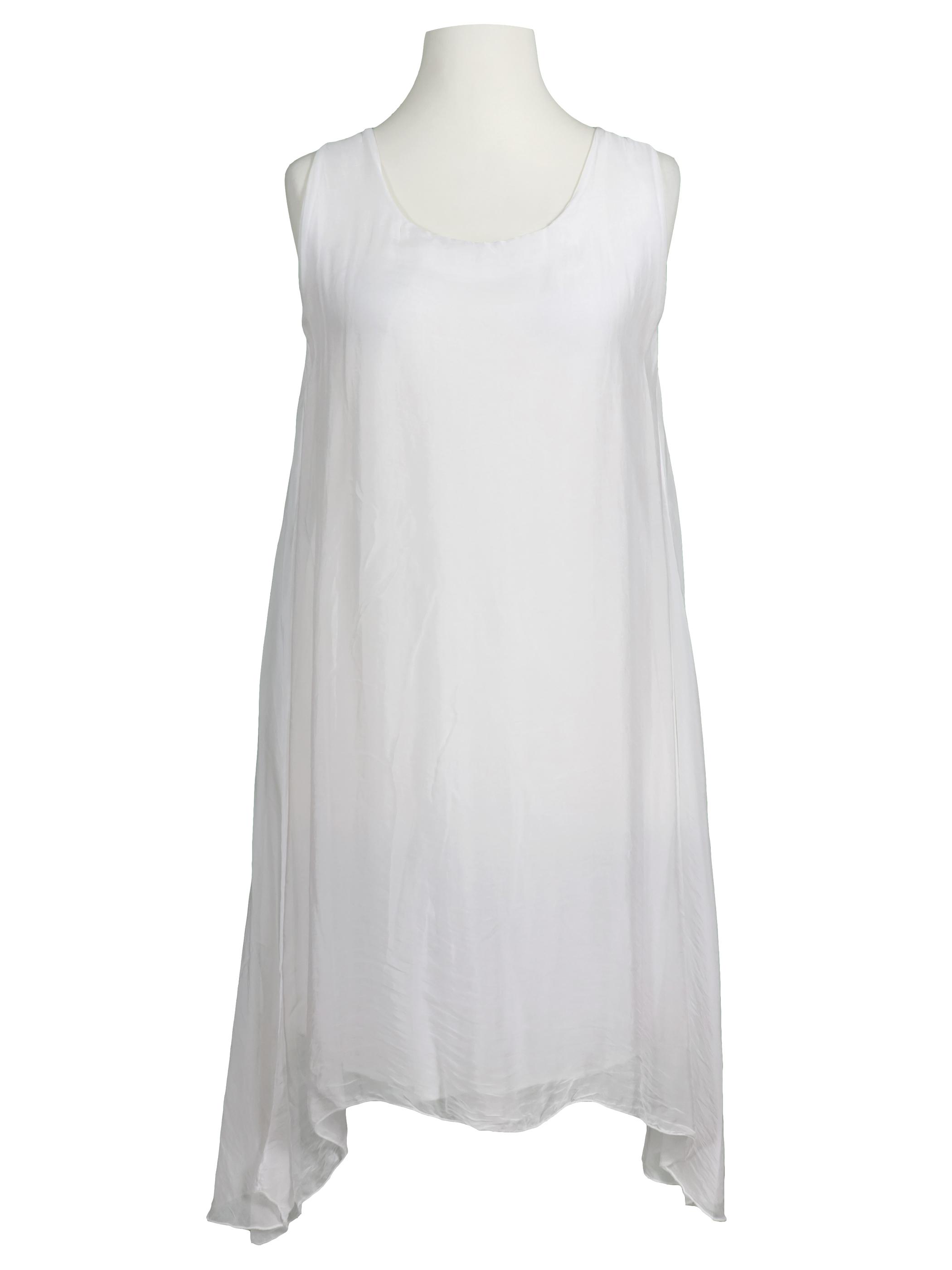 on sale ff5d5 c0fcf Kleid mit Seide A-Form, weiss