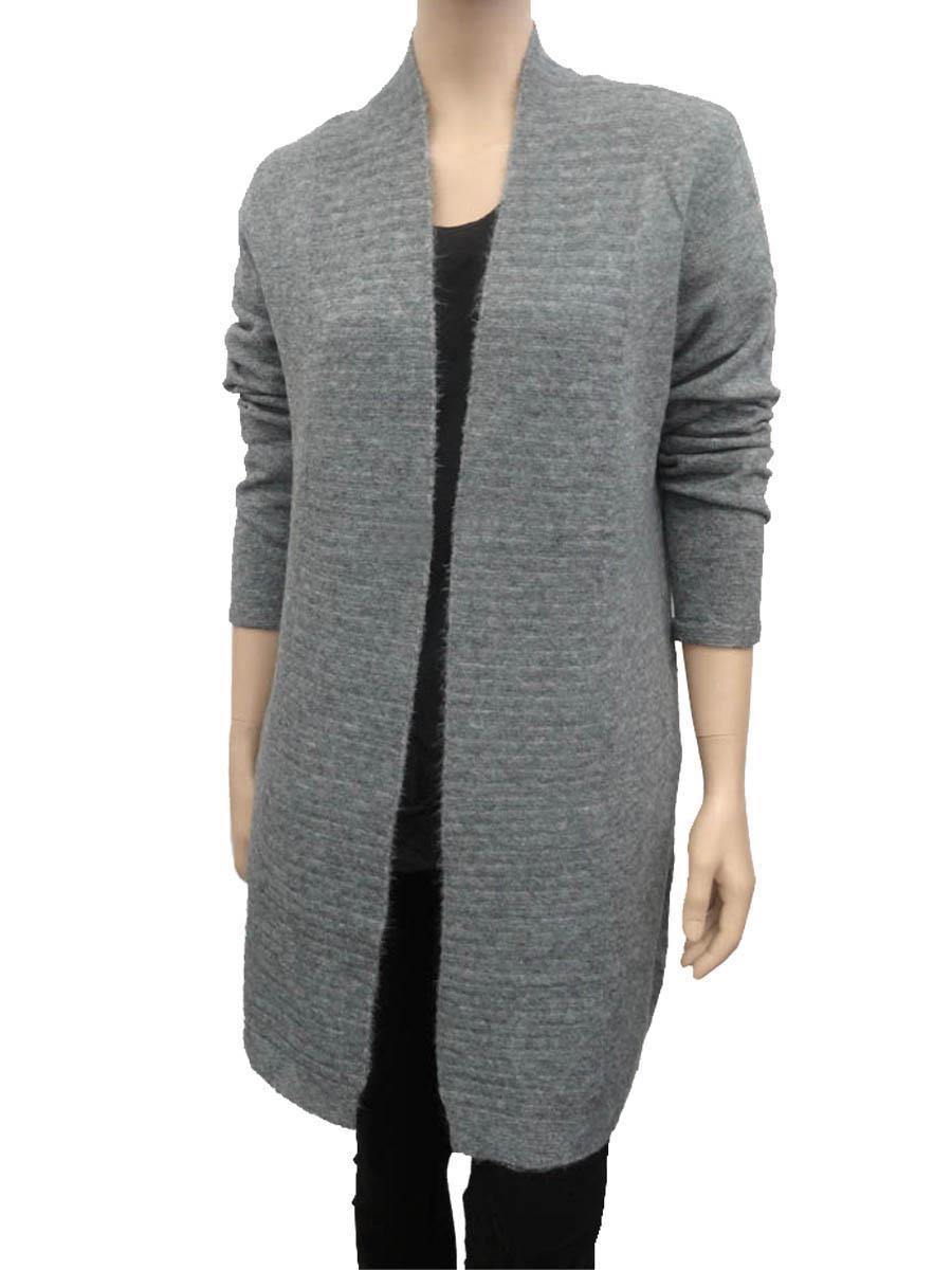 hochwertiges Design 4f010 013f0 Strick Long Cardigan, grau