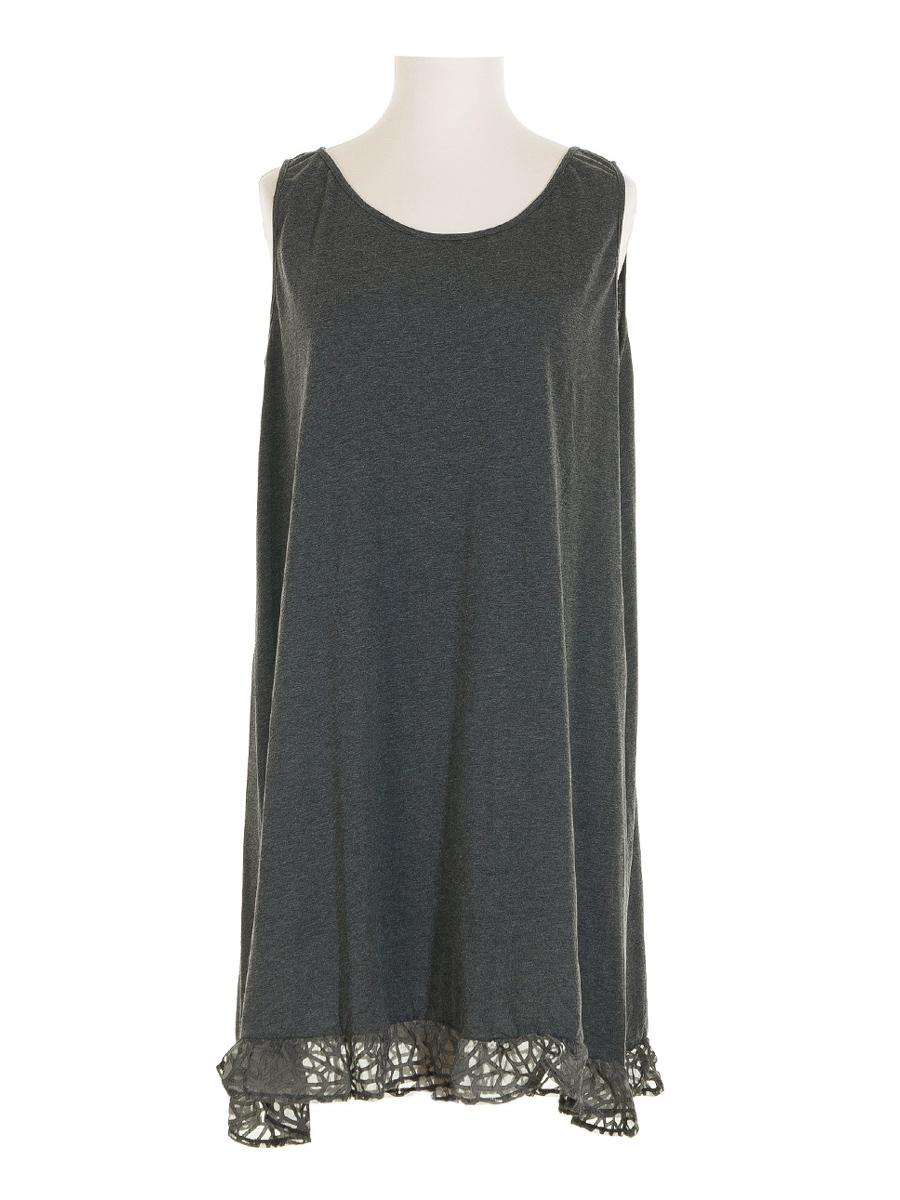 0b18b8a3609b Tunika Kleid mit Seide 2-tlg., grau   Manga