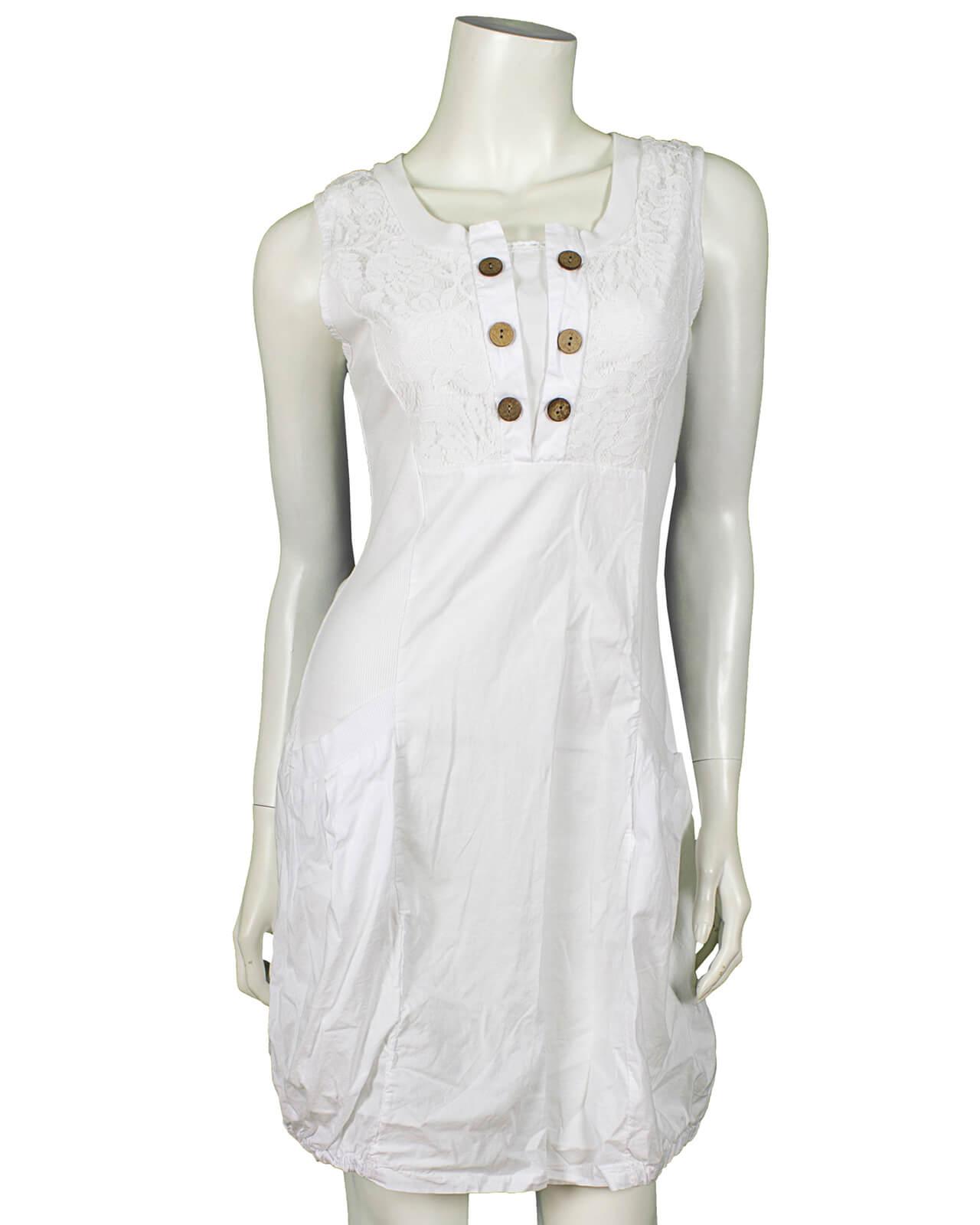 exquisite handwerkskunst am besten online Outlet-Store Kleid mit Spitze, weiss