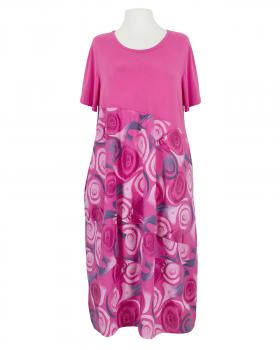 Ballonkleid mit Muster, pink von Made in Italy
