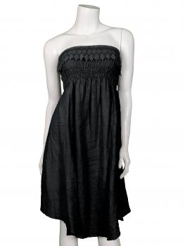 Bandeau Kleid / Rock Leinen, schwarz