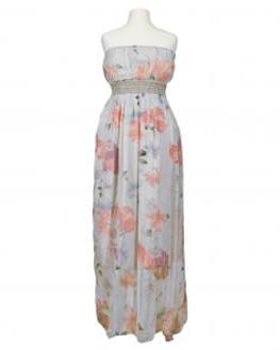 Bandeau Kleid mit Seide, grau (Bild 1)