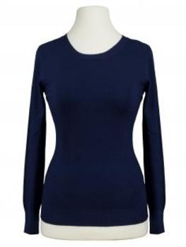 Basic Pullover, blau von Beauty Women