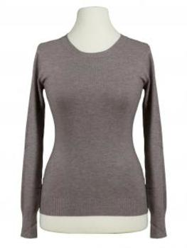 Basic Pullover, braun von Beauty Women