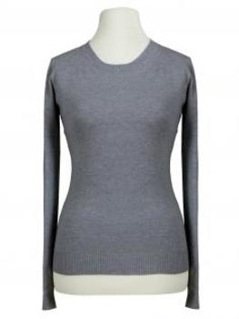Basic Pullover, grau von Beauty Women