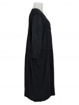 Baumwollkleid Ballonschnitt, schwarz