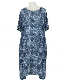 Baumwollkleid Floral, blau von Made in Italy