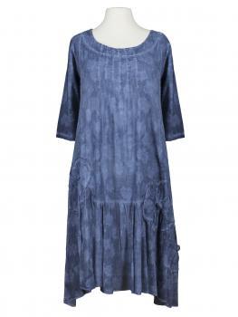 Baumwollkleid im A-Schnitt, blau von Manga