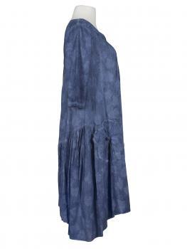 Baumwollkleid im A-Schnitt, blau