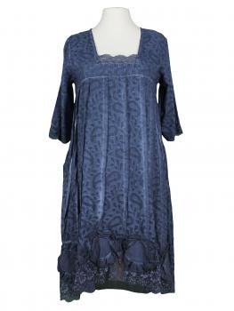 Baumwollkleid mit Spitze, blau