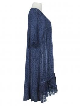 Baumwollkleid mit Spitze, blau (Bild 2)
