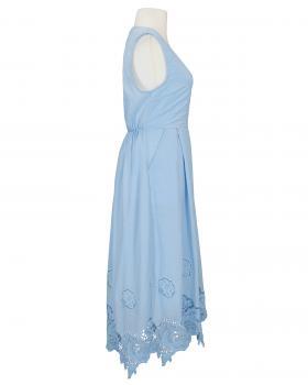 Baumwollkleid mit Spitze, hellblau (Bild 2)