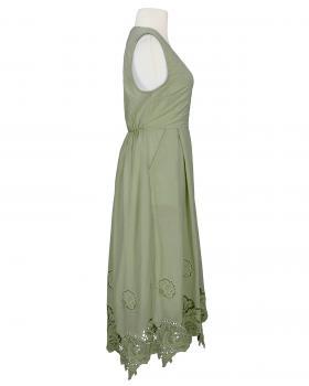 Baumwollkleid mit Spitze, khaki (Bild 2)