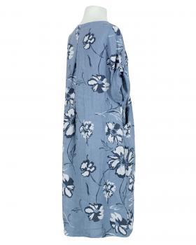 Blumen Leinenkleid, blau (Bild 2)
