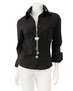 Bluse Baumwollstretch, schwarz von ITAHUA von ITAHUA