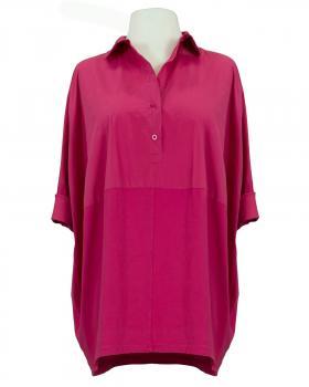 Bluse Ballonschnitt, pink von Made in Italy