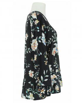Bluse Blumenmuster, schwarz (Bild 2)