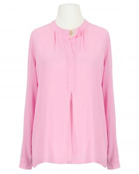 Bluse Crepe Georgette, rosa von Made in Italy