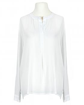 Bluse Crepe Georgette, weiss von Made in Italy