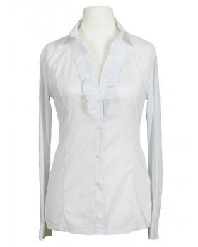 Bluse mit Rüschen, weiss von Moda & Moda (Bild 1)