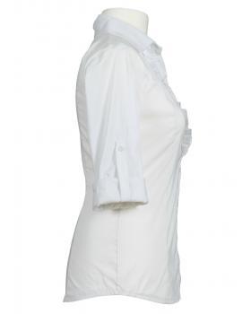 Bluse mit Rüschen, weiss (Bild 2)