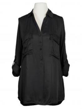 Bluse mit Satin, schwarz von Made in Italy (Bild 1)
